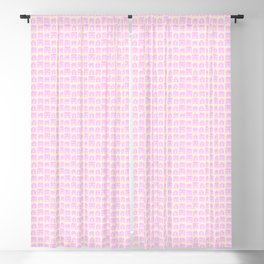 Little Scandi Houses in Pink Blackout Curtain