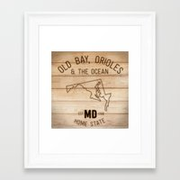 maryland Framed Art Prints featuring Maryland by Home State
