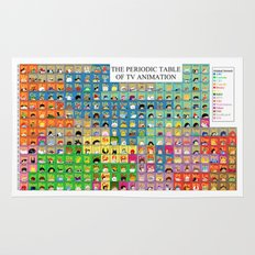 The Periodic Table of TV Animation Rug