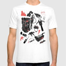 Artifacts: Ghostbusters SMALL White Mens Fitted Tee