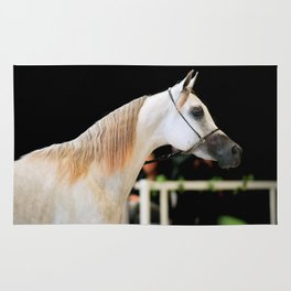 horse collection. arabian white Rug
