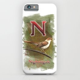 N is for Nightingale iPhone Case