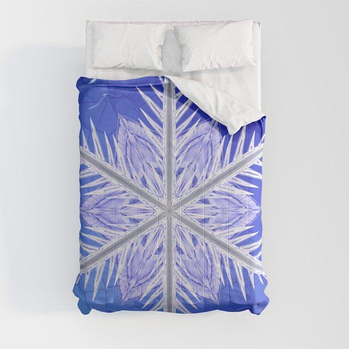 Snowflake Pattern - Bladed Sky Comforters