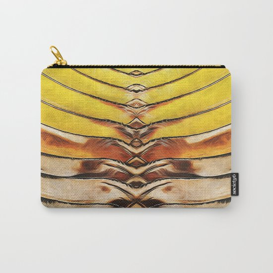 Palm Frond Leaf Macro Carry-All Pouch