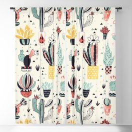 Cacti in a Flower Pot Blackout Curtain
