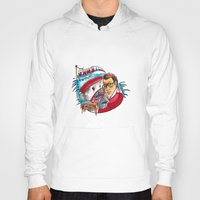 jaws Hoodies featuring Jaws  by Christopher Chouinard