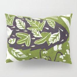 Hedgehog in Autumn Woods - Moss Green Palette Pillow Sham