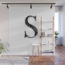 S. - Distressed Initial Wall Mural