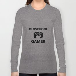 Oldschool Gamer Pixel Long Sleeve T-shirt