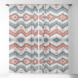 N70 - Bohemian Traditional Vintage Farmhouse Moroccan Style Artwork  Sheer Curtain