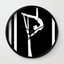 Aerial Silk Artist Silhouette  Wall Clock