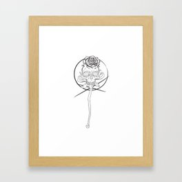 Skull rose black Framed Art Print
