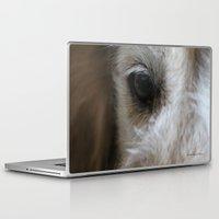 golden retriever Laptop & iPad Skins featuring Golden retriever eye 2 by Isabelle Savard-Filteau