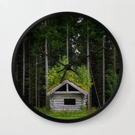 Trees On A Cabin (Norway) Wall Clock