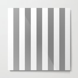 Philippine gray  - solid color - white vertical lines pattern Metal Print