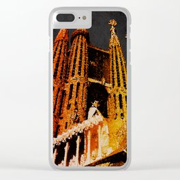 Sagrada Familia - unfinished Clear iPhone Case
