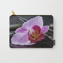 Pink orchid zen black still life Asia Carry-All Pouch