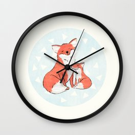Momma Fox Wall Clock