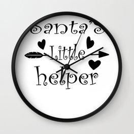 Santa's Little Helper Cute Christmas Wall Clock