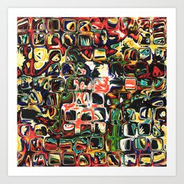 Abstract Blocks of Color Art Print