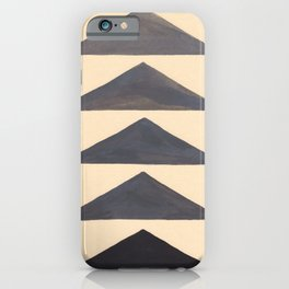 Gray Geometric Triangle Pattern With Black Accent iPhone Case