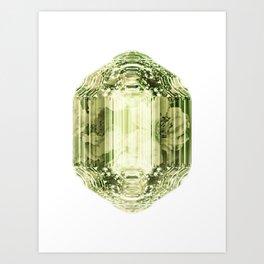 Olivine Crystal Art Print