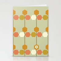 hexagon Stationery Cards featuring Hexagon by clare nicolson