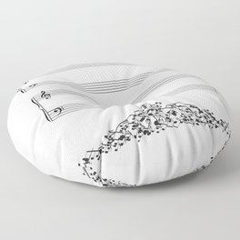 The Sound of Silence (Mono) Floor Pillow