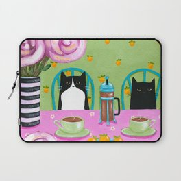 French Press Coffee Cats Laptop Sleeve