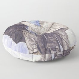 Team Free Will: Misha Collins; Jared Padalecki and Jensen Ackles, watercolor painting Floor Pillow