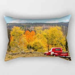 Old Chevy In The Fall Rectangular Pillow
