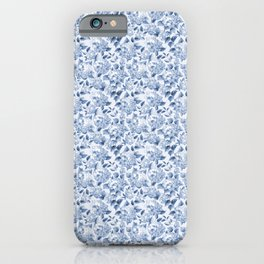 Blue Hydrangea Smaller Pattern iPhone Case
