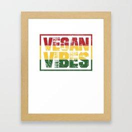 Vegan Reggae Vegan Geschenk Framed Art Print