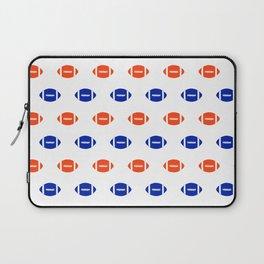 Florida fan university gators orange and blue college sports footballs pattern Laptop Sleeve
