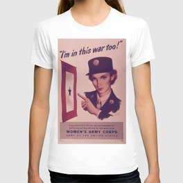 Vintage poster - Women's Army Corps T-shirt