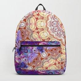 Watercolor Mandala Grunge - Magenta Blue Yellow Backpack