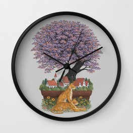Bonsai Village Wall Clock