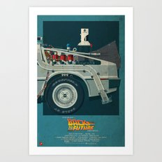 DeLorean Time Machine, Back to the Future Version 2 III/III Art Print