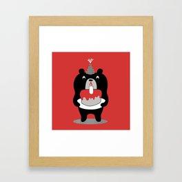 Cake Bear Framed Art Print
