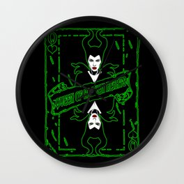 Queen of broken hearts Wall Clock