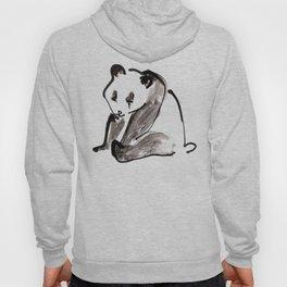 Cute Little Panda Bear Ink Illustration Hoody