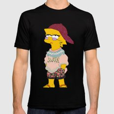 chic lisa simpson LARGE Black Mens Fitted Tee