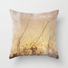 sea plants (gold) Throw Pillow