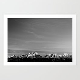 Tetons in the Evening Art Print