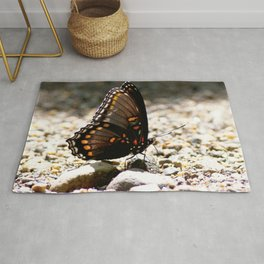 Watercolor Butterfly, White Admiral Butterfly 02, Cucumber Falls, Pennsylvania Rug