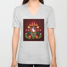 Bunny Of The Flowers Unisex V-Neck