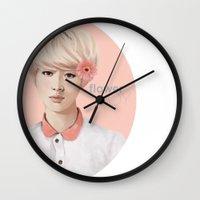 exo Wall Clocks featuring Flower Boy - Luhan by emametlo