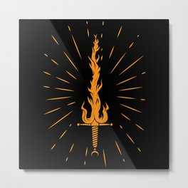 Fire sword Metal Print