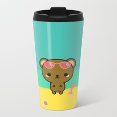 Cute bear on holiday Metal Travel Mug