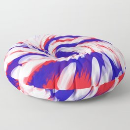 USA Red White Blue swirl Floor Pillow